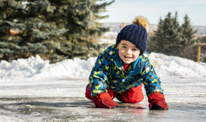 boy in snow suit at winsport