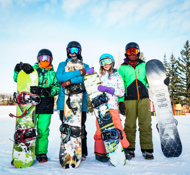 Winsport Snowboarding familyoffourholdingsnowboards