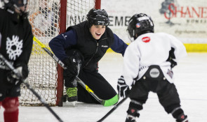 WinSport hockey volunteer